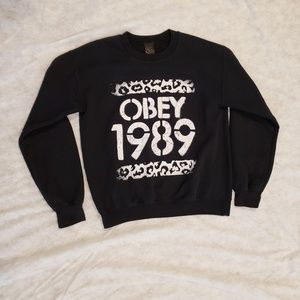 Mens Obey 1989 sweater size small